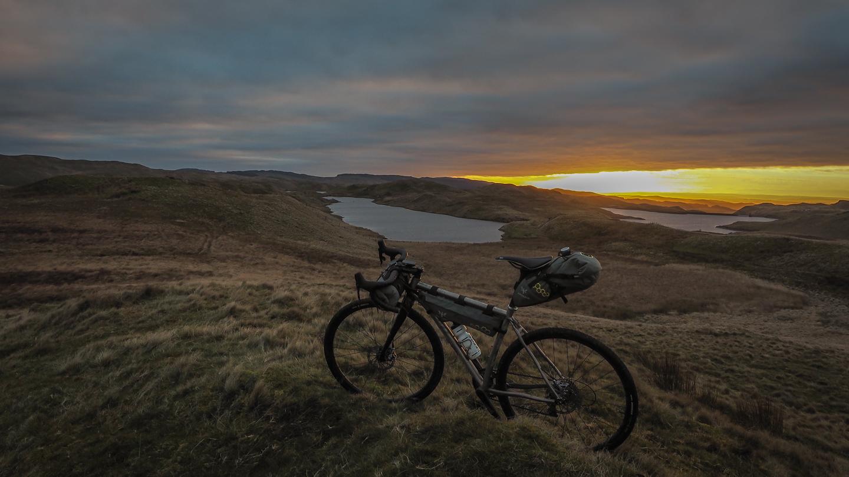 sunset, teifi pools, bikepacking, apidura, why cycles,