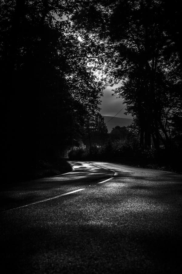 black mountain, wales, road,