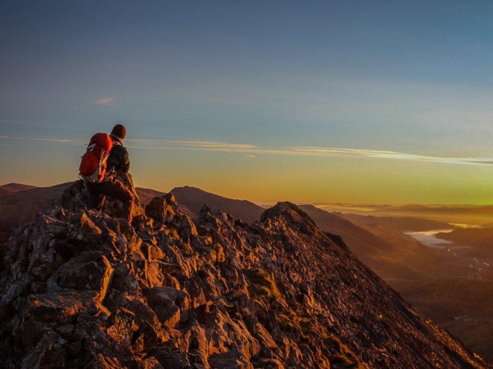 Crib Goch, Snowdonia, hiking, climbing, sunrise, wales, photography,
