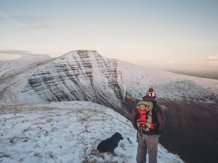 hiking, winter, dog, brecon beacons, walking, mountaineering,
