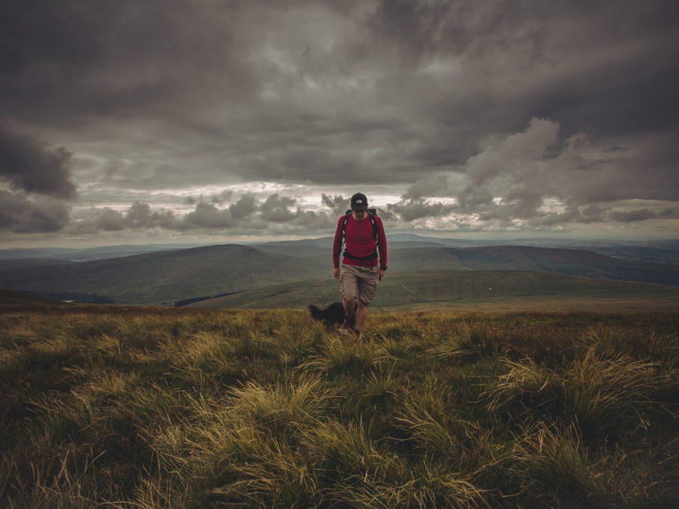 Brecon Beacons, hiking, walking, dog, wales, pen y fan, howies, RAB,