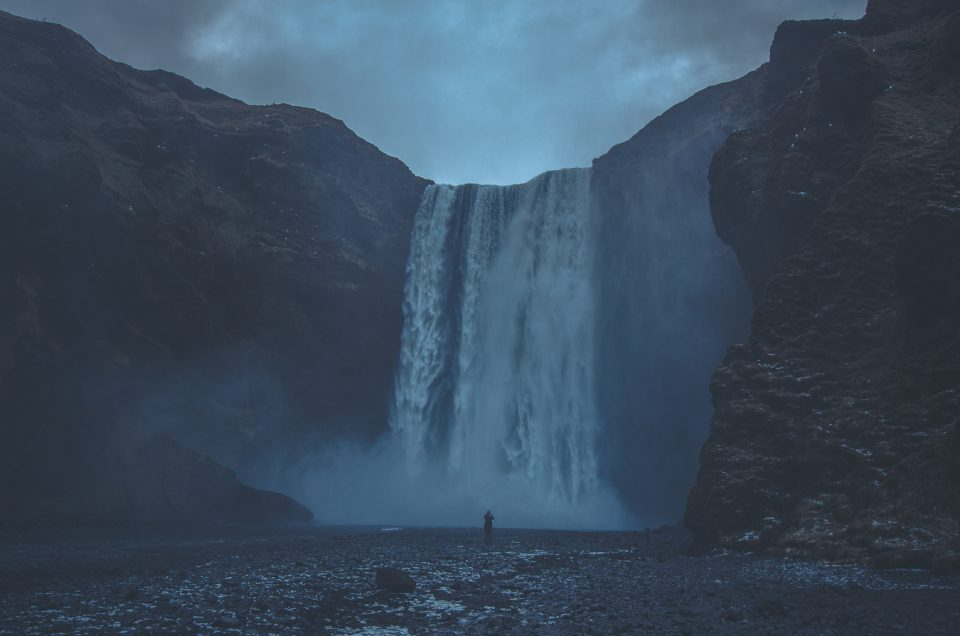 Waterfall, Iceland, person, photography, travel, adventure, explore, life, relax,