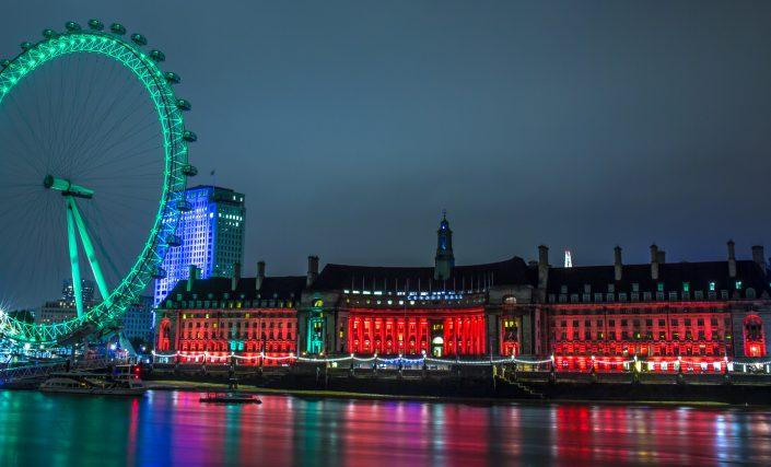 london, london eye, nightscape, photography, thames,